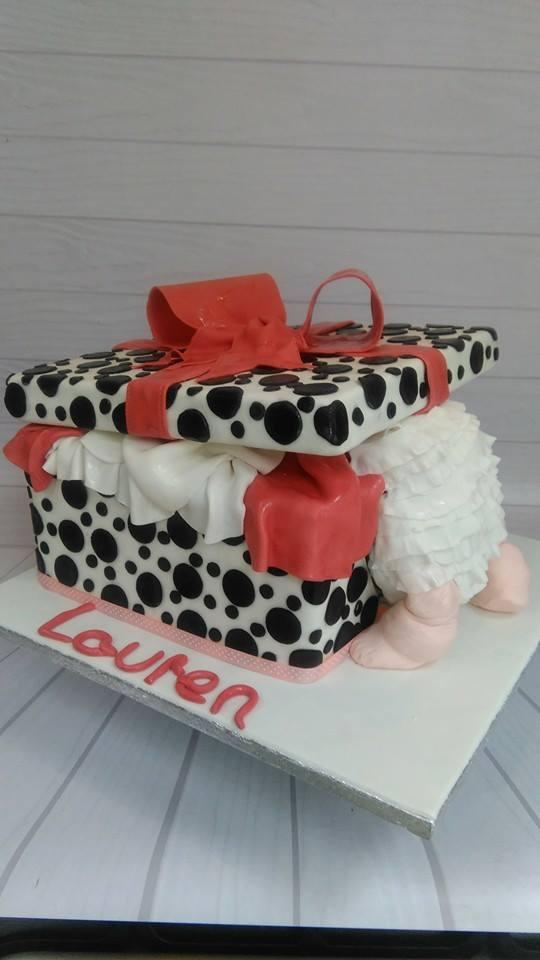 Baby box cake