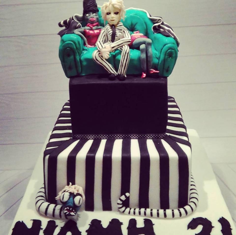 Beetlejuice cake