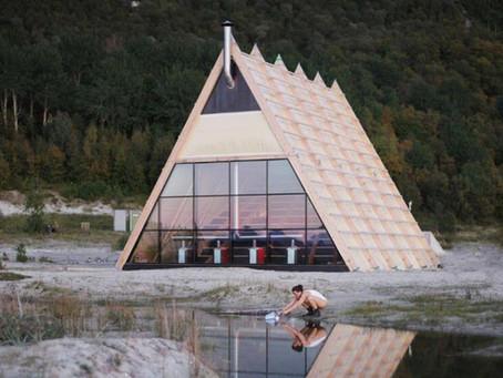 Největší sauna na světě? Za polárním kruhem s výhledem na pláž