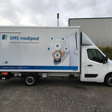 Fahrzeugbeschriftung, SMS Medipool, Wies