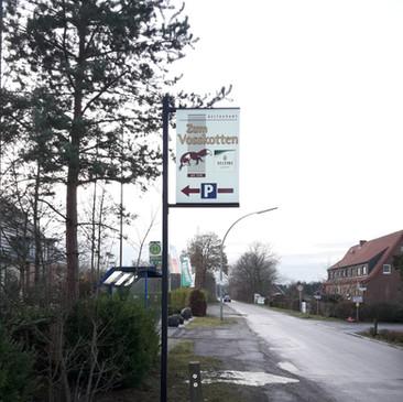 Transparentausleger, Zum Vosskotten, Gre