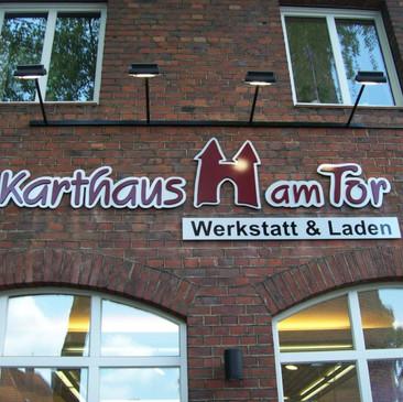 PVC-Schriftzug, Karthaus am Tor, Dülmen.