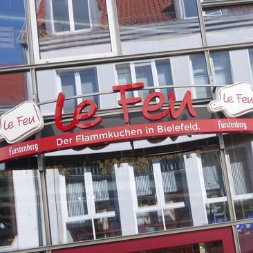 LED-Schrift Profil 8, Le Feu, Bielefeld.