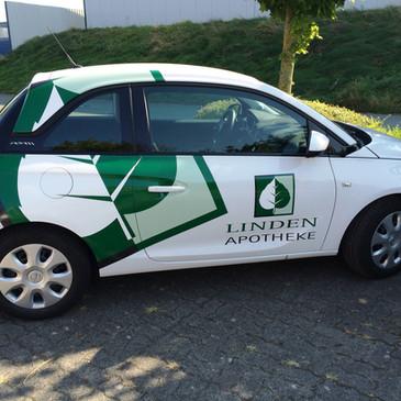 Fahrzeugbeklebung, Linden-Apotheke, Coes
