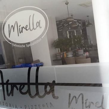 Glasdekor-Folienbeklebung, Mirella, Nord