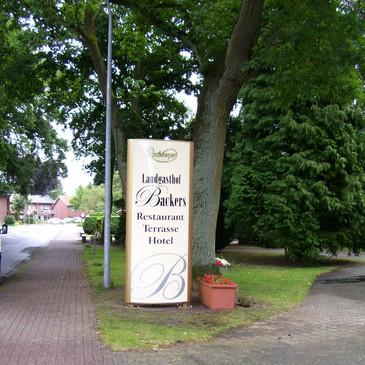 Standtransparent, Landgasthof Backers, T
