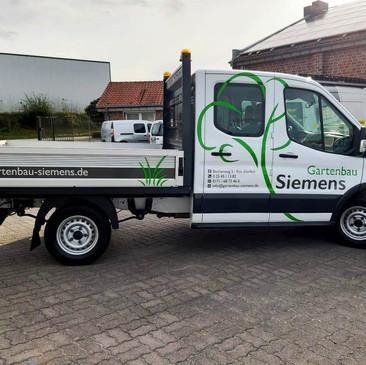 Fahrzeugbeklebung, Gartenbau Siemens, Da
