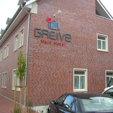 Acrylox-Schriftzug, Hotel Greive, Haren.