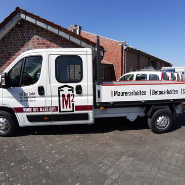 Fahrzeugbeschriftung, M2 Bau, Billerbeck