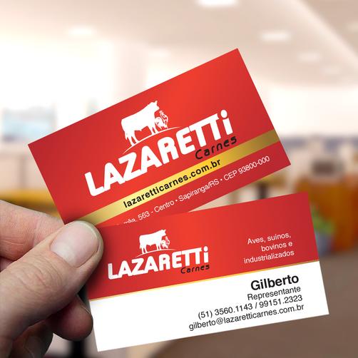 Cartão de Visitas Lazaretti Carnes