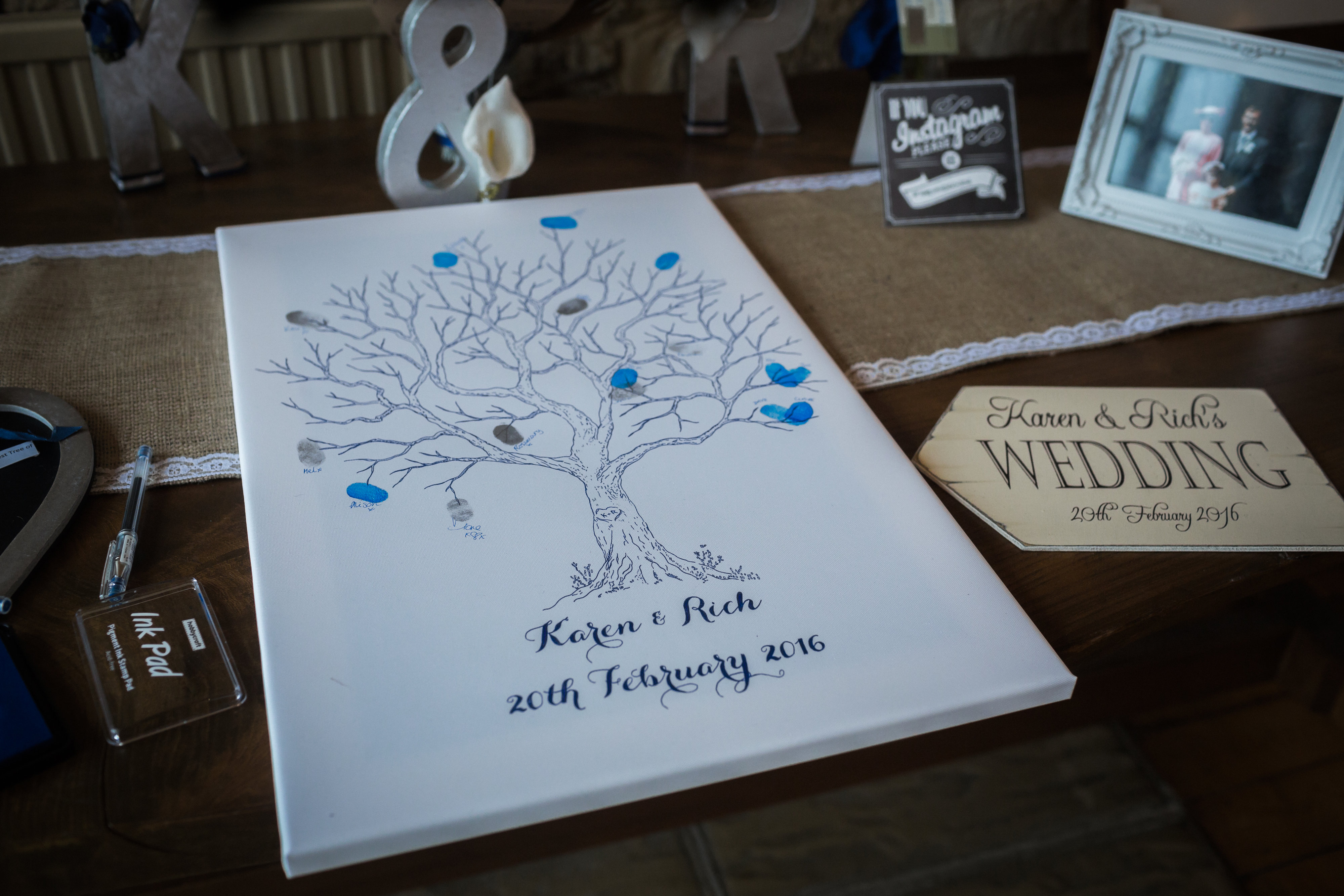 personalised finger print tree
