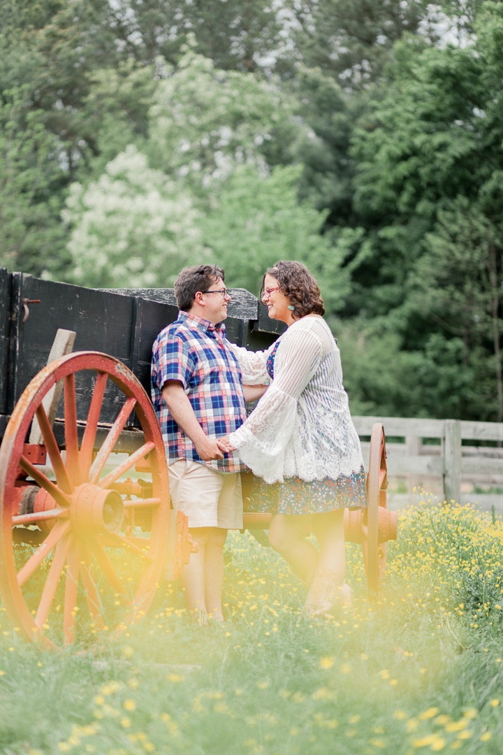 Photo By: Sarah Duke Photography | Spring Picnic Engagement Session at Meadow Farm Crump Park in Glen Allen Virginia | Sarah Duke Photo: Published Wedding and Portrait Photographer in Mechanicsville Virginia