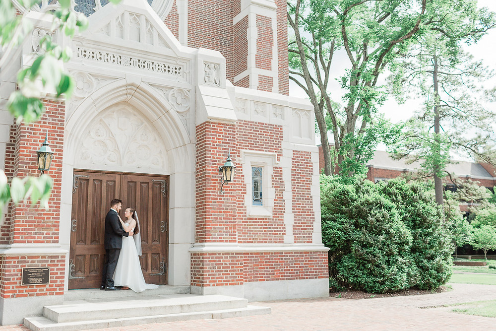 University of Richmond Wedding at Cannon Memorial Chapel | Sarah Duke Photography