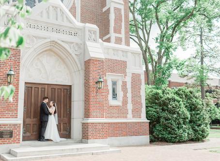 University of Richmond Wedding, Va.|Brittany & Logan| Cannon Memorial Chapel| Sarah Duke Photography