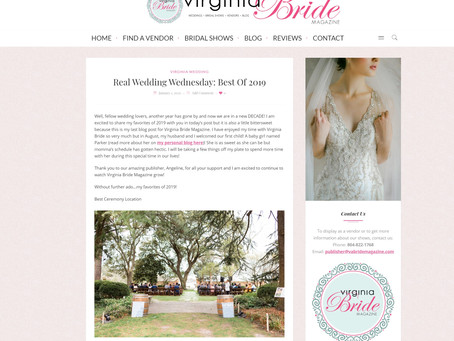 Virginia Bride Mgazine: The Best of 2019 | Featured | Sarah Duke Photography