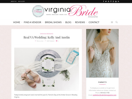 Virginia Bride Magazine / Real VA Wedding: Kelly And Austin | Featured | Sarah Duke Photography