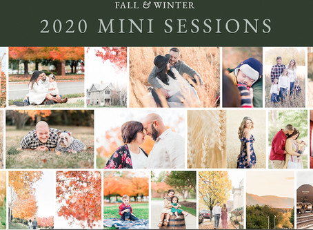 2020 Fall & Winter Mini Sessions in Richmond Virginia | Sarah Duke Photography