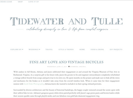 Tidewater & Tulle: Fine Art Love and Vintage Bicycles | Featured | Sarah Duke Photography