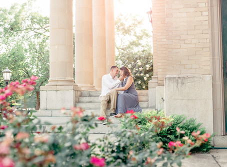 Golden Sunset Engagement Session in Richmond Virginia | Brandon & Allie | Sarah Duke Photography