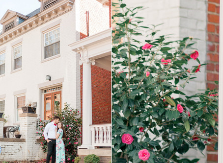 A Museum District Engagement in Richmond Virginia     Brittany & Logan  Sarah Duke Photography