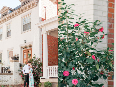 A Museum District Engagement in Richmond Virginia  |  Brittany & Logan| Sarah Duke Photography