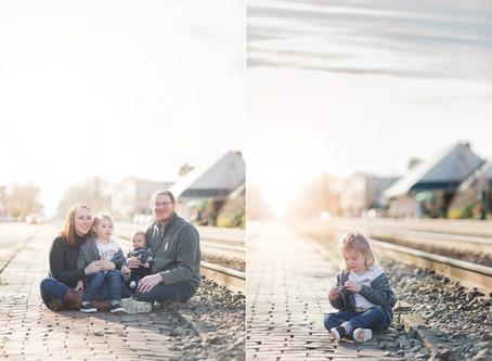 Redfield Family   Portraits   Ashland Train Station   Sarah Duke Photography