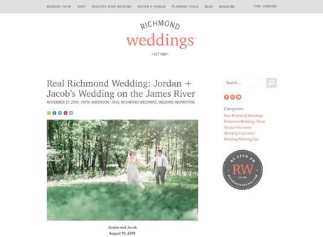 Richmond Weddings: Jordan & Jacob's Wedding onThe James River| Featured | Sarah Duke Photography