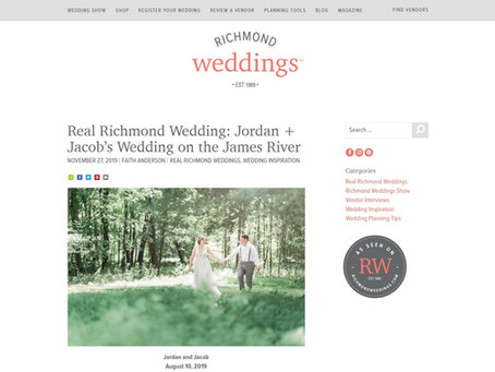 Richmond Weddings: Jordan & Jacob's Wedding onThe James River| Featured | Sarah Duke Photography