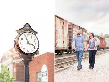 A Rain & Shine Engagement   Crystal & David   Ashland Train & Crump Park  Sarah Duke Photography