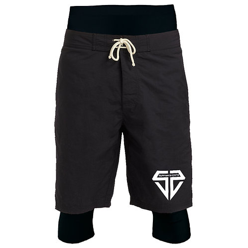 Stealth Black AkwaSwim Short