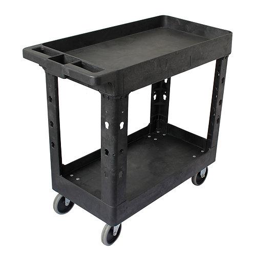 "Pake Handling Tools - Plastic Utility Cart, 550lbs Capacity, 34.5"" X 16.7"""