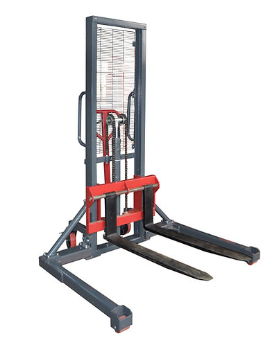 Pake Handling Tools - Manual Stacker, Hand Pump Lift Truck with Adjustable Leg