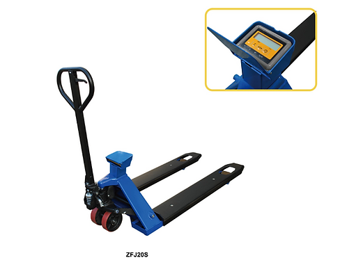 Pake Handling Tools - Scale Pallet Truck, 4400-Pound Capacity, 45'' x 22''