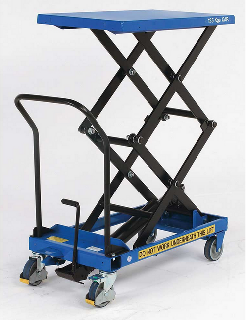 Pake Handling Tools - Double Scissor Lift Table, 275 lbs, 19 6 X 33