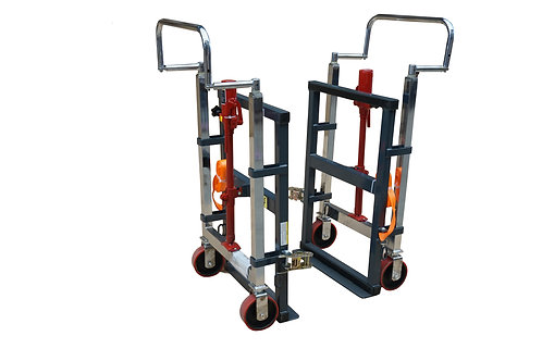 Pake Handling Tools Hydraulic Machinery Mover, 3960 lbs (Set of 2)