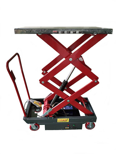 Pake Handling Tools - Electric Double Scissor Lift Table, 2000lbs Capacity