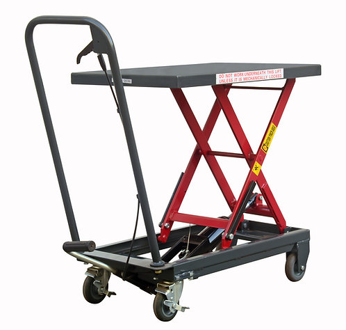 Hydraulic Mobile Scissor Lift Table - 500lbs