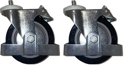 Swivel Caster with Back Brake X 2 - PAKWP01/02/03 Rear Caster