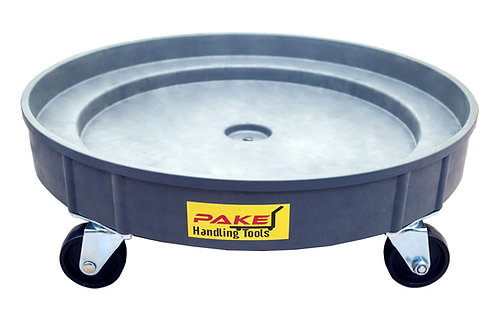 Pake Handling Tools - Plastic Drum Dolly for 30 gal and 55 gal Drums, 900 lb. Ca