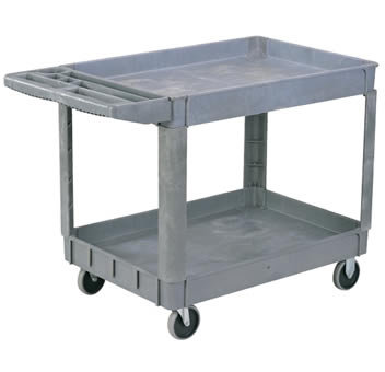 "Pake Handling Tools Plastic Utility Cart, 550 lbs Capacity, 37.4"" x 25.6"""