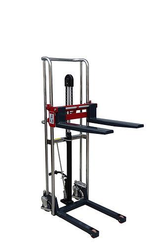 Pake Handling Tools Manual Forklift Stacker, 880 lbs Capacity