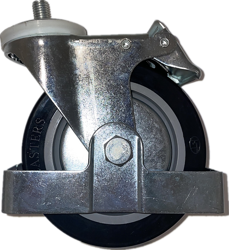 Swivel Caster with Back Brake - PAKWP01/02/03 Rear Caster