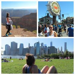New York, San Francisco, Grand Canyo