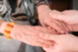 caregiver's hands