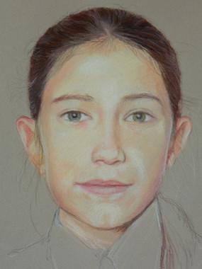 portrait pastel