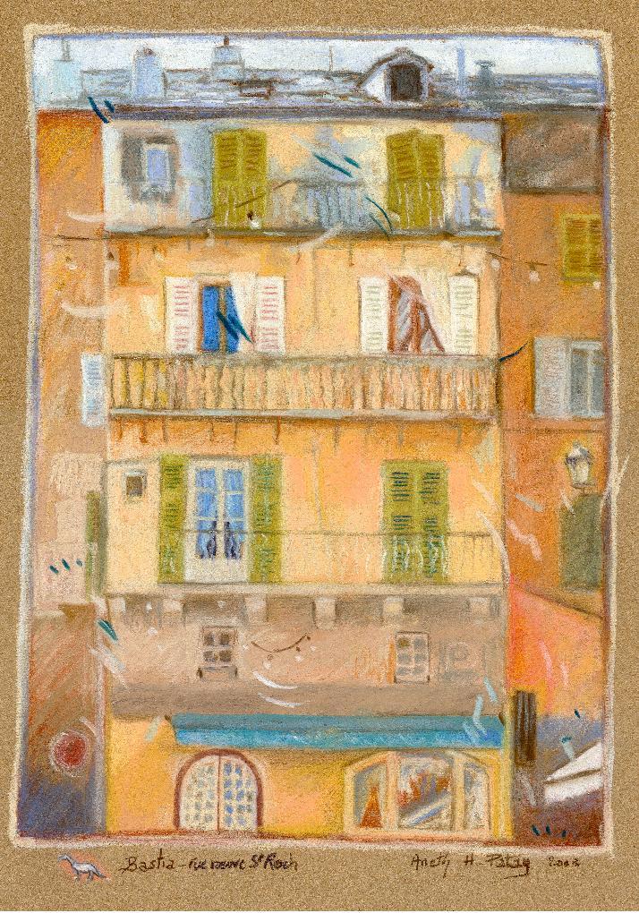 Maison jaune, à Bastia