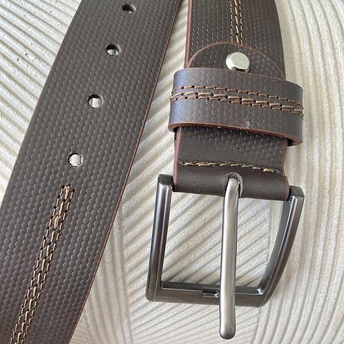 Cinturón para hombre en cuero café