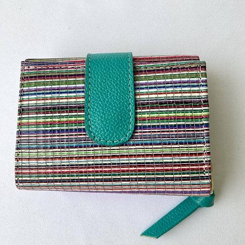 Milú. Mini-Billetera de colores en cuero bovino folia
