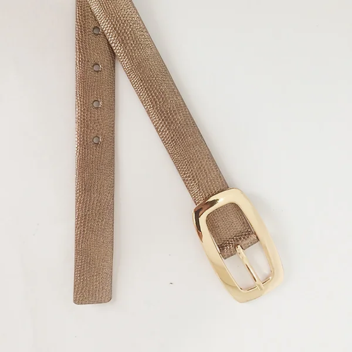 Cinturon de cuero Bronce