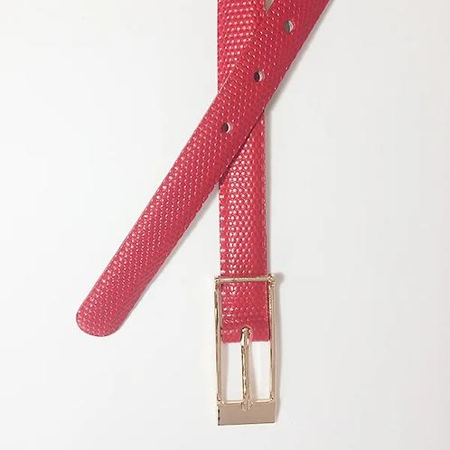 Cinturon en cuero rojo